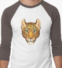 Leopard Face Men's Baseball ¾ T-Shirt