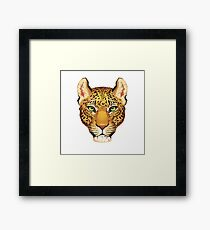 Leopard Face Framed Print