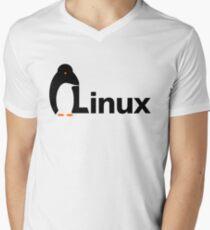Linux Men's V-Neck T-Shirt