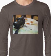 Photographers break in watercolor Long Sleeve T-Shirt