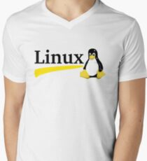Linux Men's V-Neck T-Shirt