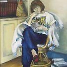 Book Woman - a self portrait by Lyn Fabian