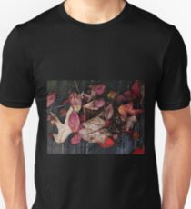 Collage Of Autumn Red Unisex T-Shirt