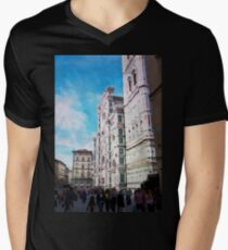 Florence watercolor painting Mens V-Neck T-Shirt