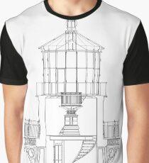 Cape Hatteras Lighthouse Lantern Room Blueprint Graphic T-Shirt