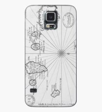 Vintage Map of Cape Verde (1746) Case/Skin for Samsung Galaxy