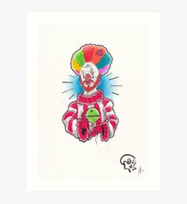 Clown Christ Art Print