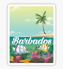 Barbados underwater travel poster Sticker