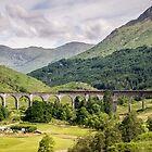 Glenfinnan Viaduc and The Jacobite Steam Train  by 29Breizh33