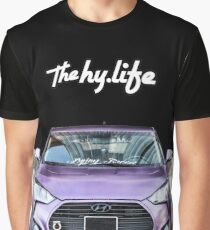 Purple Veloster The Hy Life Black Graphic T-Shirt
