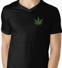 Weed  Mens V-Neck T-Shirt