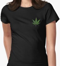 Weed  Women's Fitted T-Shirt