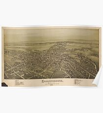 Vintage Pictorial Map of Chambersburg PA (1894) Poster