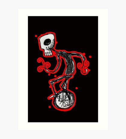 cyclops on a unicycle Art Print