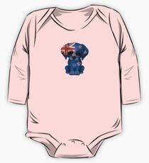 Cute Patriotic New Zealand Flag Puppy Dog Kids Clothes