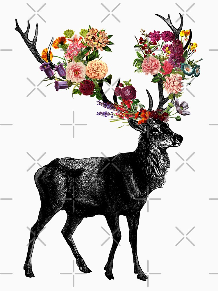 Frühling selbst Deer Floral von tobiasfonseca