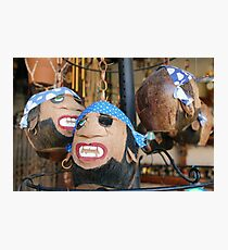 Coconut pirate heads Photographic Print