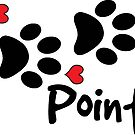 DOG PAWS LOVE POINTER DOG PAW I LOVE MY DOG PET PETS PUPPY STICKER STICKERS DECAL DECALS by MyHandmadeSigns