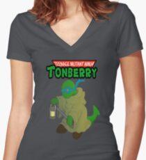 Teenage Mutant Ninja Tonberry Women's Fitted V-Neck T-Shirt