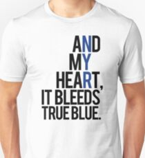 true blue (white) Unisex T-Shirt