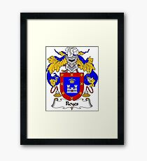 Reyes Coat of Arms/Family Crest Framed Print