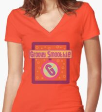 The Groovy Smoothie Women's Fitted V-Neck T-Shirt