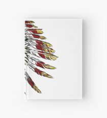 Skull in Indian feathers. Hardcover Journal