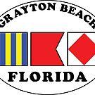 GRAYTON BEACH FLORIDA EURO OVAL NAUTICAL FLAG  by MyHandmadeSigns