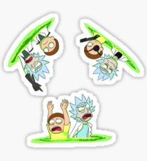 Rick and Morty vs Rick and Morty Sticker