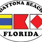 DAYTONA BEACH FLORIDA EURO OVAL NAUTICAL FLAG  by MyHandmadeSigns