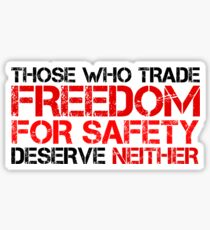 Freedom Government Political Quote Liberty Sticker