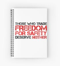 Freedom Government Political Quote Liberty Spiral Notebook