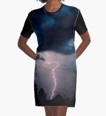Lightning Graphic T-Shirt Dress