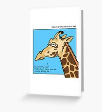 Giraffe is not amused Greeting Card
