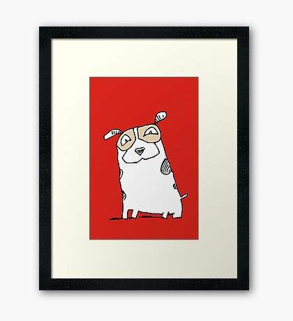 happy mutt Framed Print
