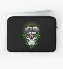 Weed Sugar skull Laptop Sleeve