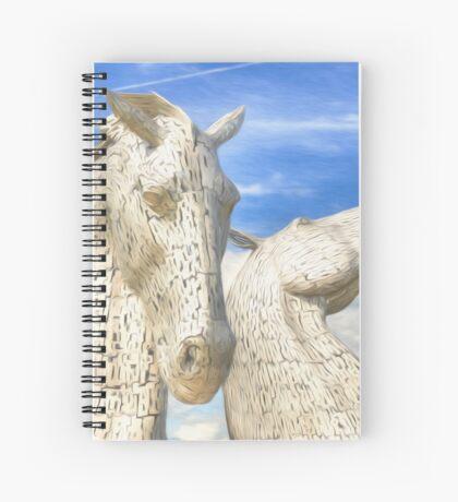 The Kelpies , Helix Park , Falkirk Spiral Notebook