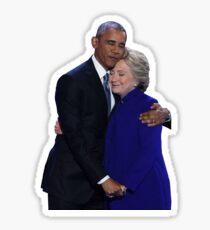 Pegatina Hillary y Obama - DNC 2016