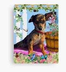 Vixen In The Fantasy GIMP Garden Canvas Print