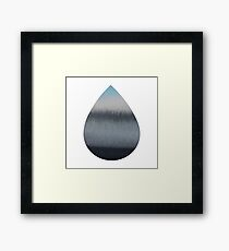 Tear Drop Framed Print