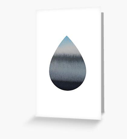 Tear Drop Greeting Card