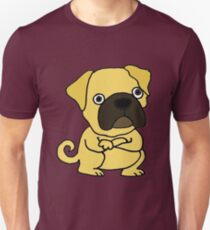Cool Funny Grumpy Pug Cartoon Unisex T-Shirt
