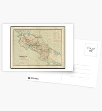 Vintage Map of Costa Rica (1903) Postcards