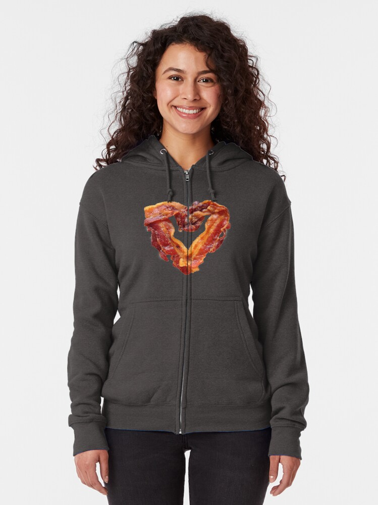 Alternate view of Bacon Zipped Hoodie