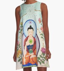 Healing Buddha - Kundalini Attaining Enlightenment  A-Line Dress