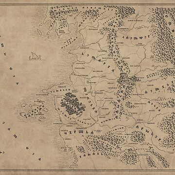 Witcher Universe Map - Glagolitic by Nicoberson