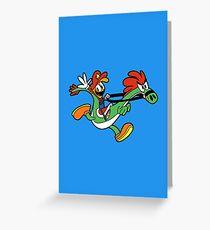 Wander Over Mario World Greeting Card