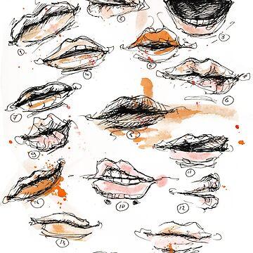 Lippen von doriana