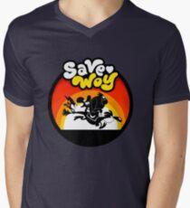 Save WOY emblem Men's V-Neck T-Shirt