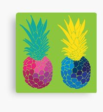twin pineapples Canvas Print